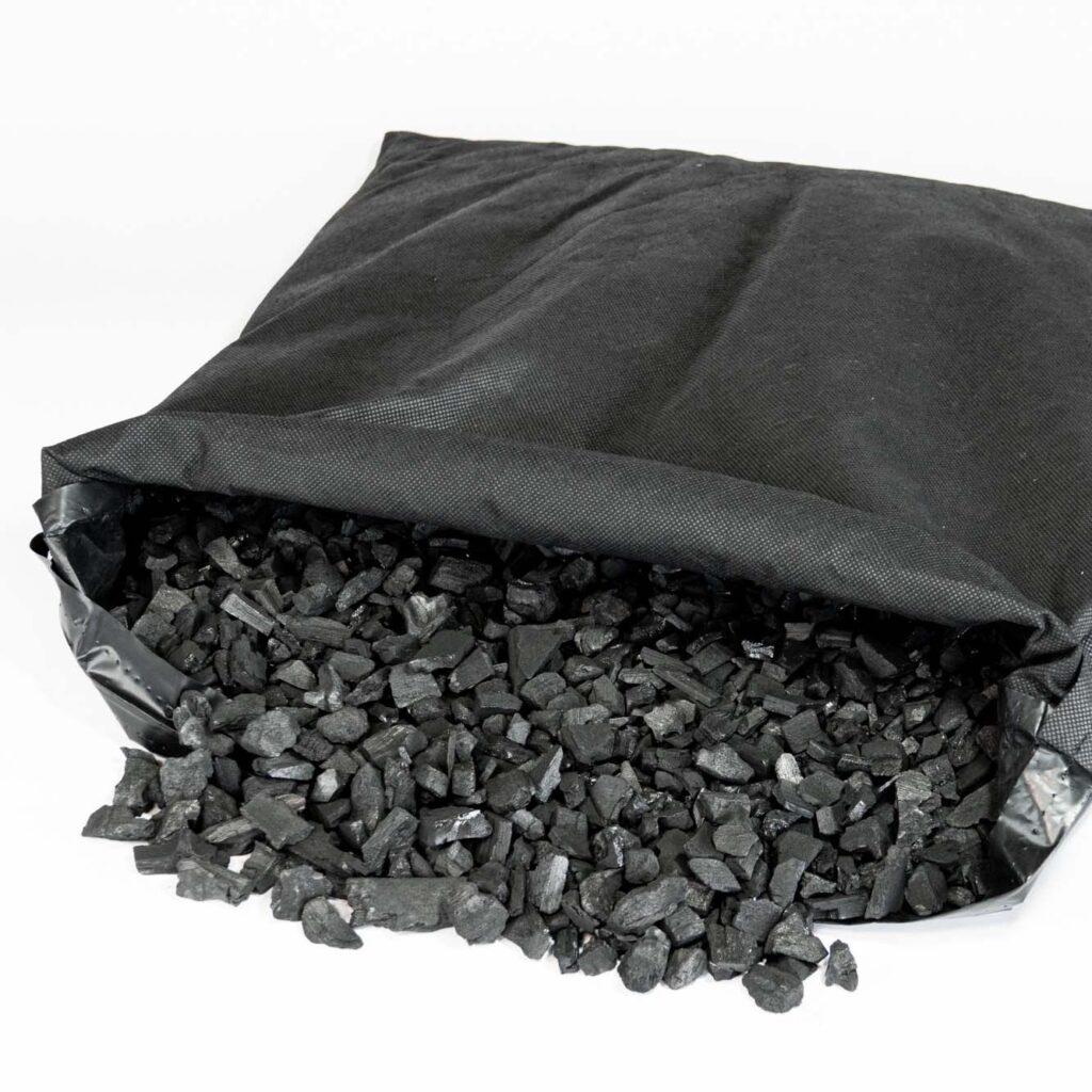 床下調湿竹炭の中身